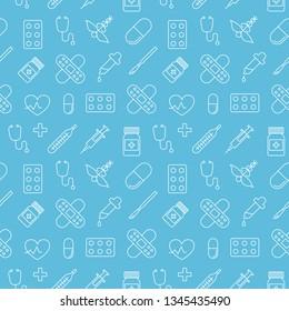 Medicine vector seamless pattern