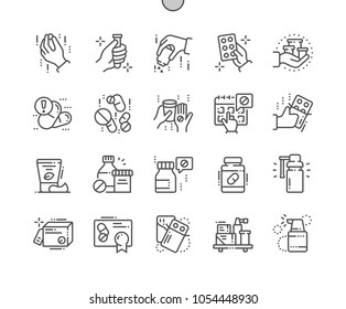 Medicine Well-crafted Pixel Perfect Vector Thin Line Icons 30 2x Grid for Web Graphics and Apps. Simple Minimal Pictogram