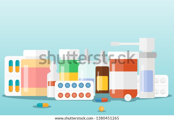 medicines set medical drugs vector illustration stock vector royalty free 1380451265 https www shutterstock com image vector medicines set medical drugs vector illustration 1380451265