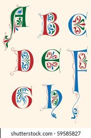 Medieval alphabet
