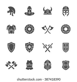 Medieval armor icon set