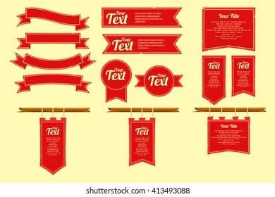 Medieval banner flag
