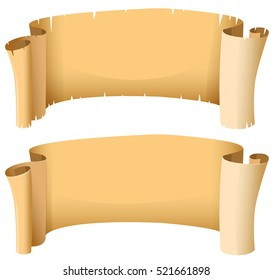 Medieval banners in two designs illustration