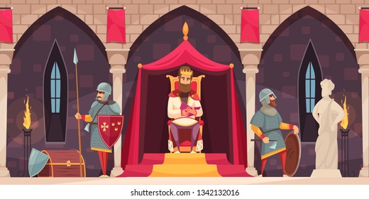A King Sitting On His Throne and Under The Sea Background – Clipart  Cartoons By VectorToons