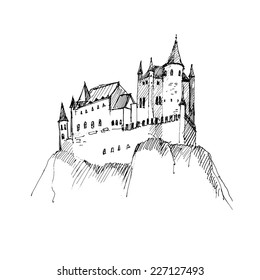 Chateau Fort Dessin Images Stock Photos Vectors