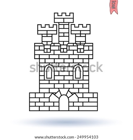 medieval castle tower coat arms 450w 249954103 medieval castle tower coat arms stock vector (royalty free