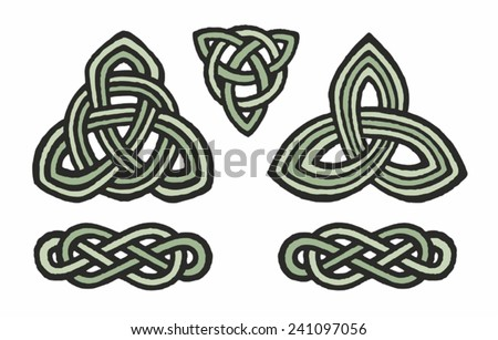 Medieval Celtic Knot Tattoo Ornament Stock Vector Royalty Free