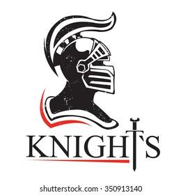 medieval helmet logo