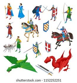 Knight and Princess Drawing Images, Stock Photos & Vectors