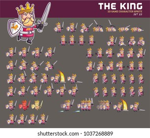 Medieval King Cartoon Game Character Animation Sprite