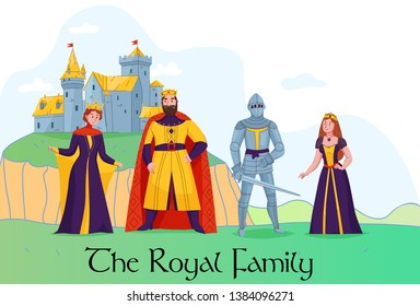 Middle Ages King Queen Images, Stock Photos & Vectors
