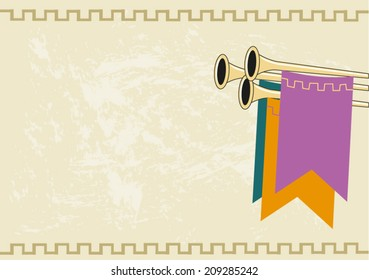 Medieval Royal Announcement Background. Editable Clip Art. Vector eps10