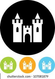 Medieval royal castle - Vector icon isolated