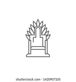 Medieval, throne icon. Element of medieval period icon. Thin line icon for website design and development, app development. Premium icon