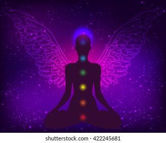 Angel Meditating Images Stock Photos Vectors Shutterstock