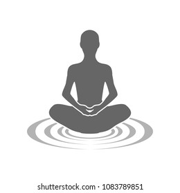 Meditation Echoes Symbol Logo Design