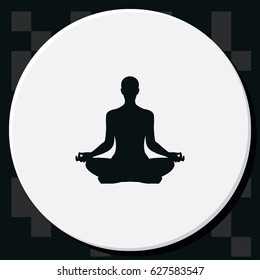 Meditation flat vector icon.