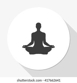 Meditation or meditate vector icon.