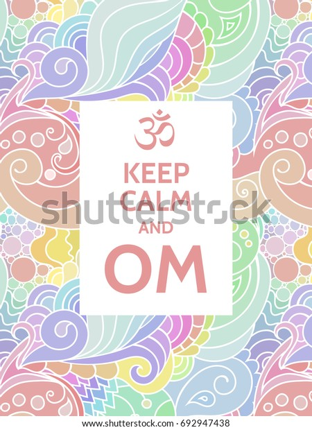 Meditation Spiritual Practice Mantra Motivational Typography Stock Vector Royalty Free 692947438