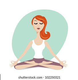 yogi woman images stock photos  vectors  shutterstock