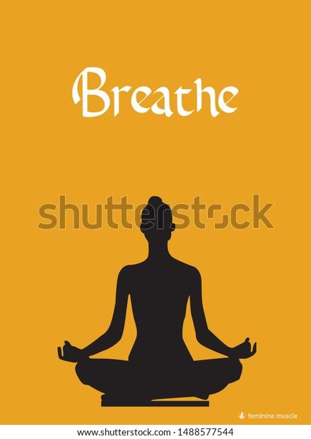 vector de stock libre de regalias sobre meditation yoga quotes