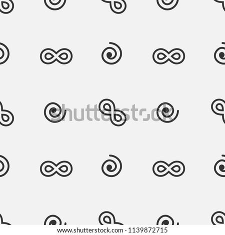 Meditation Yoga Symbols Fibonacci Infinity Signs Stock Vector