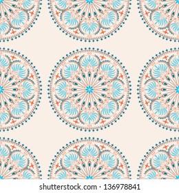 Mediterranean pattern on light beige background