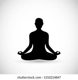 Meditiation vector icon