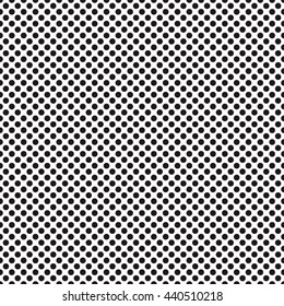A medium sized dotted texture- black and white vector pattern .