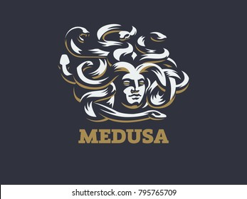 Medusa of the gorgon. Vector illustration.