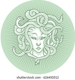 medusa head vector