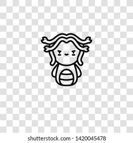 medusa icon from  collection for mobile concept and web apps icon. Transparent outline, thin line medusa icon for website design and mobile, app development