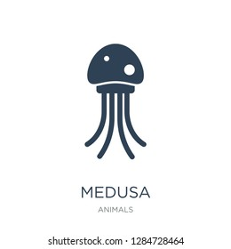 medusa icon vector on white background, medusa trendy filled icons from Animals  collection, medusa vector illustration