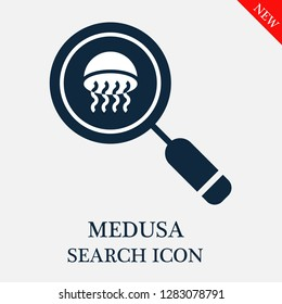 Medusa search icon. Editable Medusa search icon for web or mobile.
