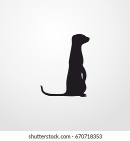 Meerkat icon. vector sign symbol on white background