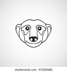 meerkat logo vector icon design