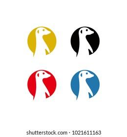 Meerkat vector logo graphic abstract