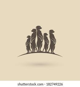 Meerkats - vector illustration