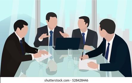 meeting board of Directors  head  leader  businessmen