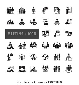 Meeting & conference icon set, Business Management icons