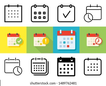 Meeting Deadlines icon set in different styles