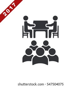 Meeting Icon Vector flat design style