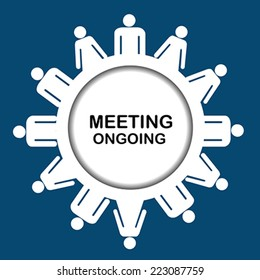 Meeting ongoing icon