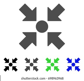 Meeting Point flat vector pictograph. Colored meeting point, gray, black, blue, green pictogram variants. Flat icon style for web design.