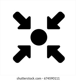 Meeting point icon in trendy flat style isolated on background. Meeting point icon page symbol for your web site design Meeting point icon logo, app, UI. Meeting point icon Vector illustration, EPS10.