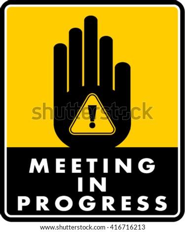 meeting progress stock vector royalty free 416716213 shutterstock