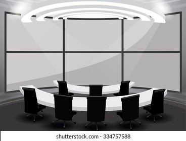 meeting room monitor wall control room