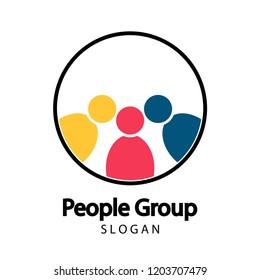meeting teamwork room people logo.