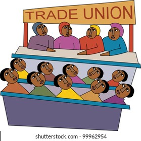 Meeting of trade union members