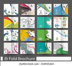 Mega Bundle of Bi-Fold Mock up & Brochure Design.